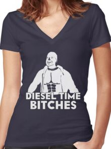 Paul Walker - Diesel Time Bitches Women's Fitted V-Neck T-Shirt