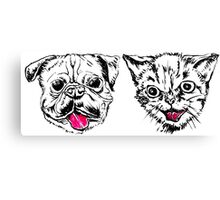 Pug Cat Canvas Print