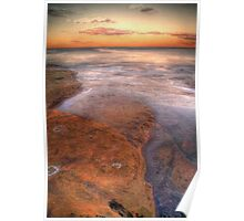 HDR  rocks at Coogee Poster
