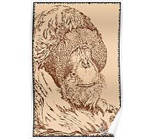 Leonardo Da Orangutan Poster
