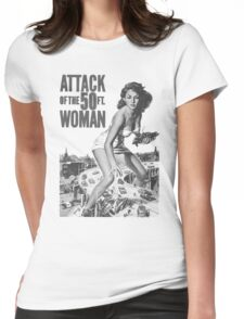 50 ft Woman Womens Fitted T-Shirt