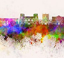 Tarento skyline in watercolor background by paulrommer