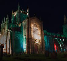 Dunfermline Abbey at night by Paul  Gibb