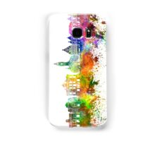 Lille skyline in watercolor background Samsung Galaxy Case/Skin