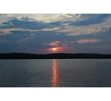 Sunset at the lake Photographic Print