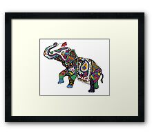 Elephant Zentangle Framed Print