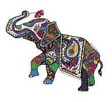 Elephant Zentangle Photographic Print