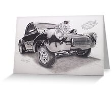 Old School Hot Rod Greeting Card