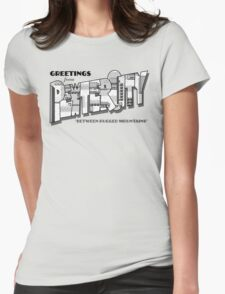 Greetings from Pewter City Womens Fitted T-Shirt