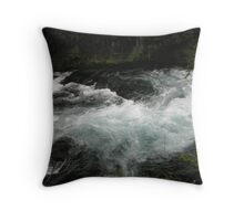 Flowing Onyx Throw Pillow