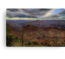 A Single Beam over the Grand Canyon Canvas Print
