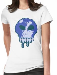 Skull - Blue Womens Fitted T-Shirt