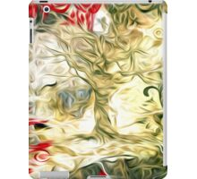 Abstract Flowers and Tree Oil Painting iPad Case/Skin