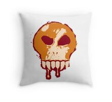 Skull - Orange Throw Pillow