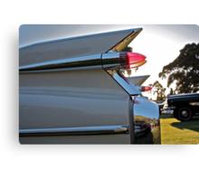 1959 Cadillac fins at sunset Canvas Print