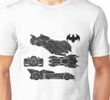 batmobile 1989 schematic  Unisex T-Shirt