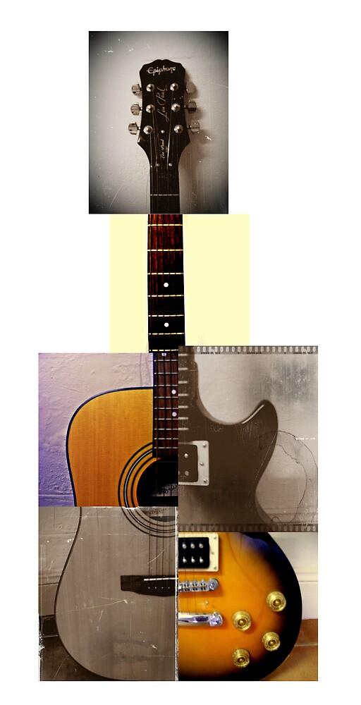 frankenstein's guitar. (w/ white background) by chaos josh.