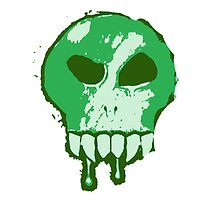 Skull - Green by BigFluffyFozzie