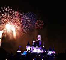 Disneyland Fireworks Display by cvrestan