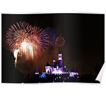 Disneyland Fireworks Display Poster