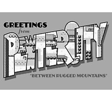 Greetings from Pewter City Photographic Print