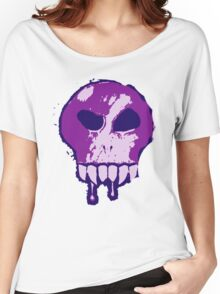 Skull - Purple Women's Relaxed Fit T-Shirt
