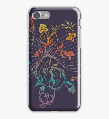 Floral Music Notes 3 iPhone Case/Skin