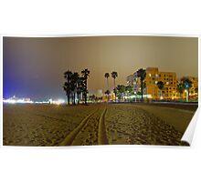Santa Monica,California @ Night  Poster