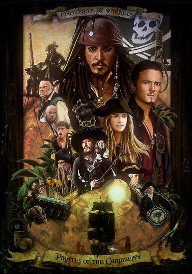 Pirates of the Caribbean Poster by MRMSTYLE