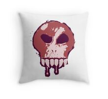 Skull - Red Throw Pillow