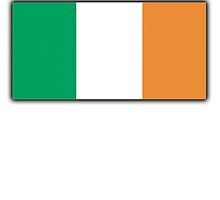 IRELAND, IRISH FLAG, National Flag of Ireland, FLAG OF IRELAND, EIRE, PURE & SIMPLE by TOM HILL - Designer