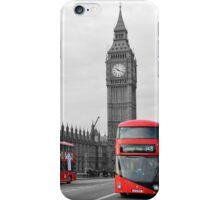 Buses on Westminster Bridge  iPhone Case/Skin