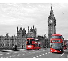 Buses on Westminster Bridge  Photographic Print