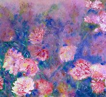 Peony Impressions in Pinks and Purples by Claire Bull