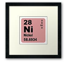 Nickel Periodic Table of Elements Framed Print