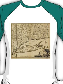 Map of Connecticut and Parts Adjacent (1780) T-Shirt