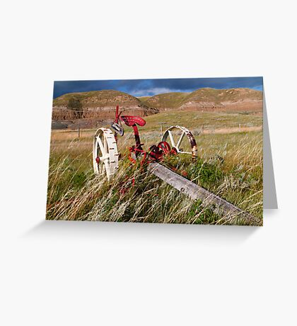 Agricultural equipment Greeting Card