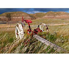 Agricultural equipment Photographic Print