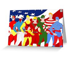 Seven Soldiers of Victory Minimal Greeting Card