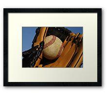 Catch that ball Framed Print