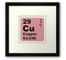 Copper Periodic Table of Elements Framed Print