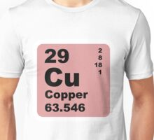Copper Periodic Table of Elements Unisex T-Shirt