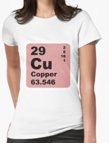 Copper Periodic Table of Elements Womens Fitted T-Shirt