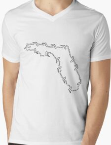 Cities of Florida 001 Mens V-Neck T-Shirt