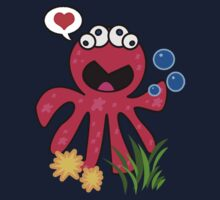 Octopus in love Baby Tee