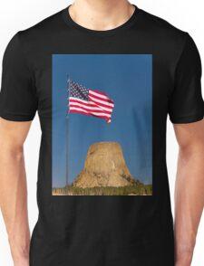 Sunrise over Devils Tower .2 Unisex T-Shirt