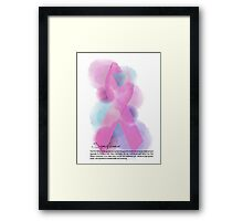 pink ribbon Framed Print
