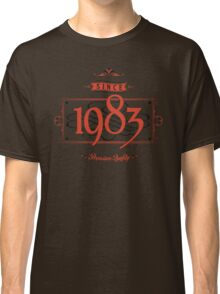 Since 1983 (Red&Black) Classic T-Shirt