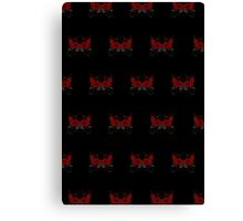 Guns and Roses Red (Pattern 2) Canvas Print