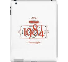 Since 1984 (Red&Black) iPad Case/Skin